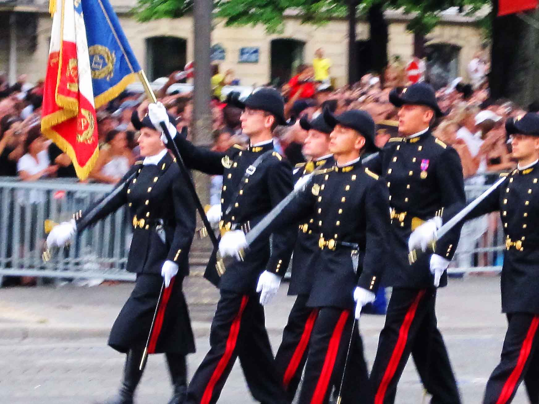 The Bastille Day Parade, Paris, July 14, 2010